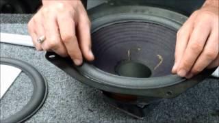 getlinkyoutube.com-Advent Speaker Repair Replace Foam Edge Metal Frame Woofer