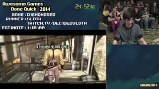 getlinkyoutube.com-Dishonored :: Live SPEED RUN (0:49:33) by Sloth #AGDQ 2014