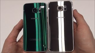Samsung Galaxy S6 Edge vs Samsung Galaxy S6 (Green vs Gold) Deutsch