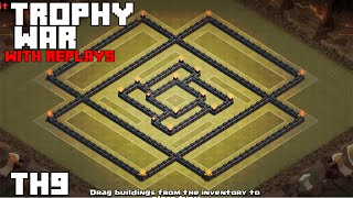 getlinkyoutube.com-Clash Of Clans: Th9 War Base 2015/with replays [Rubix]