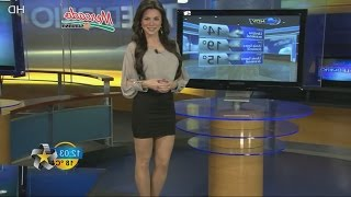 getlinkyoutube.com-Arlett Fernandez Beautiful Mexican Weather Girl 14.01.2013