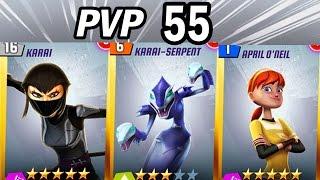 getlinkyoutube.com-TMNT Legends PVP #55 (Karai Serpent, Karai, April O'neil)