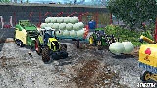 getlinkyoutube.com-Farming Simulator 15 - Seb & Hanmark - Krone Ultima CF155XC + Ramassage de balles