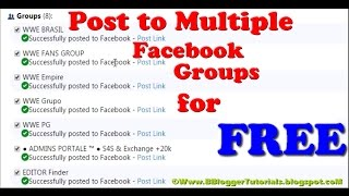 getlinkyoutube.com-How To Post to Multiple Facebook Groups for FREE [2015 HD]