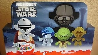 getlinkyoutube.com-12 Kinder Surprise Eggs Star Wars Twistheads European Toys 2013 Sorpresa スターウォーズ
