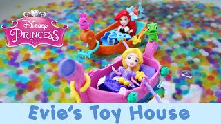 getlinkyoutube.com-Disney Princess Little Kingdom Snap-Ins Ariel and Rapunzel Orbeez Pool Party | Evies Toy House