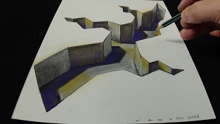 getlinkyoutube.com-3D Drawing of a GAP - How to Draw Crevice