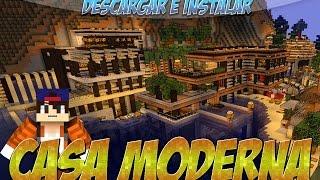 getlinkyoutube.com-Minecraft 1.8.9/1.8.8/1.8/1.7.10 - Descargar E Instalar Mapa De Casa Moderna Minecraft