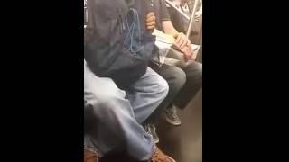 getlinkyoutube.com-Woman humiliates a guy who is caught masturbating on NYC subway