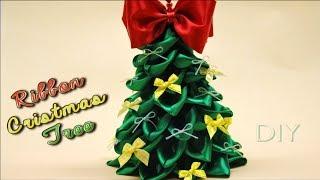 getlinkyoutube.com-Как сделать ЕЛОЧКУ из Атласных Лент / DIY Ribbon Cristmas Tree / ✿ NataliDoma