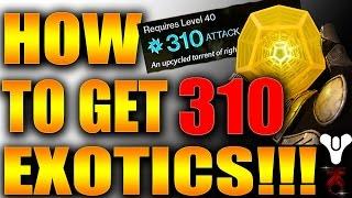 getlinkyoutube.com-Destiny: *EASY* Get 310 LIGHT EXOTIC ARMOR/WEAPONS!!!
