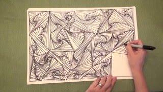 getlinkyoutube.com-ASMR: Line Illusions (ASMR, no speaking, Doodling pattern, Pursuit curve, Zen tangle)