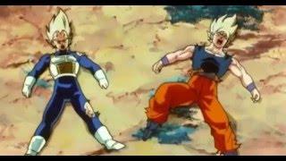 getlinkyoutube.com-Saitama vs Goku and Vegeta [ONE PUNCH MAN Dragon ball z Parody]