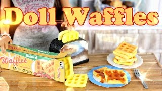 getlinkyoutube.com-DIY - How to Make Doll Food:  Waffles - Handmade - Doll - Breakfast - Crafts