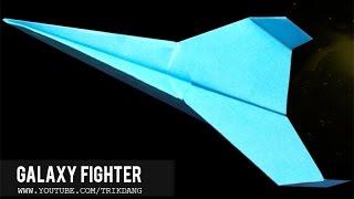 getlinkyoutube.com-Best Paper Planes: How to make a paper airplane - Best Paper Plane in the world | Galaxy Fighter