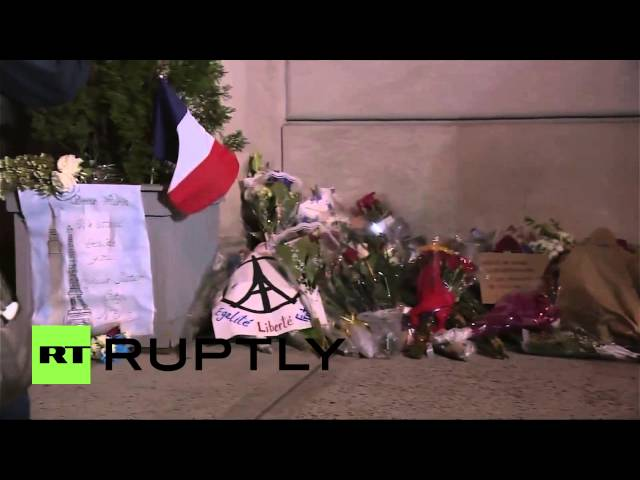 USA: Tributes pour in for victims of Paris attacks at NYC's French Consulate