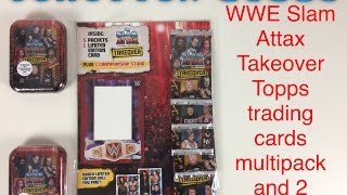 getlinkyoutube.com-WWE Slam Attax Takeover a Topps trading cards multipack and 2 mini tins