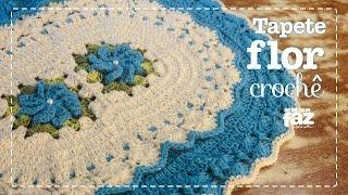 getlinkyoutube.com-Tapete de Barbante - Flores em Crochê (Diane Gonçalves)