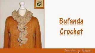 getlinkyoutube.com-Bufanda fruncida con abanicos a crochet
