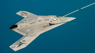 getlinkyoutube.com-WORST NIGHTMARE for Russian Military !!! US Navy X-47B stealth aircraft