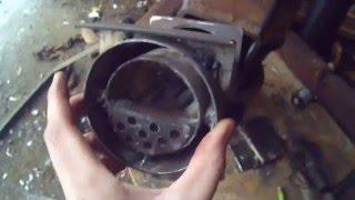 """Rocket Stove Episode 4 - Jet-Style Pellet Burner (6"""" RMH Hybrid)"""
