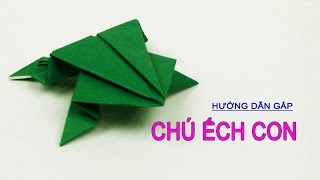 getlinkyoutube.com-Dạy Bé cách gấp giấy hình con ếch ộp - 2/5/2015