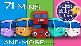 getlinkyoutube.com-Ten Little Buses | Plus Lots More Nursery Rhymes | From LittleBabyBum!