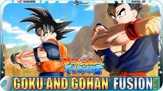 getlinkyoutube.com-Goku and Gohan EX FUSION: Kuhan - Dragon Ball Fusions Xenoverse mod