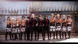 getlinkyoutube.com-[Strike back] Shingeki no kyojin cosplay dance by夜莺军团(NTG) six sense