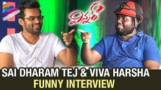 getlinkyoutube.com-Sai Dharam Tej and Viva Harsha Funny Interview | Winner Movie | Rakul Preet | Telugu Filmnagar