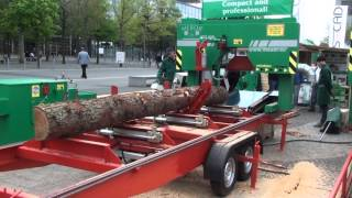 getlinkyoutube.com-MEBOR HTZ 800 MOBILE - PORTABLE BAND SAWMILL