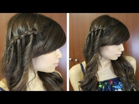 Boho Twisted Waterfall Braid Hairstyle Hair Tutorial