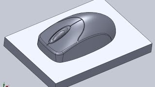 getlinkyoutube.com-Design computer mouse by Solid Works 2010 - Part 1