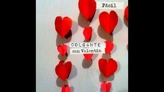 getlinkyoutube.com-Guirnalda, colgante cadena corazón san Valentín Facil ideas valentine