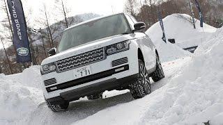 getlinkyoutube.com-レンジローバー&イヴォーク 本格SUVで雪上オフロードコースを激走