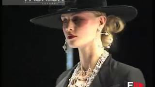 "getlinkyoutube.com-""Rocco Barocco"" Autumn Winter 1997 1998 Rome 1 of 7 Haute Couture woman by FashionChannel"
