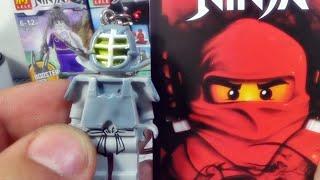 getlinkyoutube.com-china 닌자고 캔도 쟌 검도 호구 레고 짝퉁 열쇠고리 고무 제품 키체인 LEGO knockoff Ninjago Kendo Zane