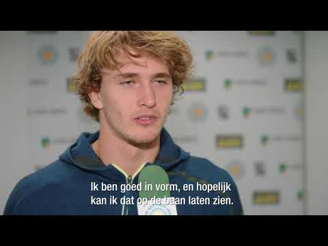 Zverev about his chances in Rotterdam