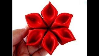 getlinkyoutube.com-Flores pétalos diamantes en cintas para el cabello paso a paso