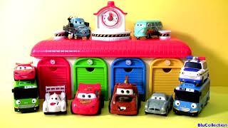 getlinkyoutube.com-Tayo the Little Bus Garage Disney Pixar Cars - 타요 꼬마버스 타요 중앙차고지 디즈니카 (영화) - тайо Игрушки
