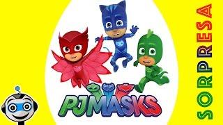 getlinkyoutube.com-Huevo Sorpresa Gigante de PJ MASKS