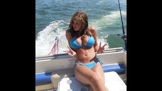 getlinkyoutube.com-Siesta Key boat ride Sarasota Florida. Parasailing Crescent beach.