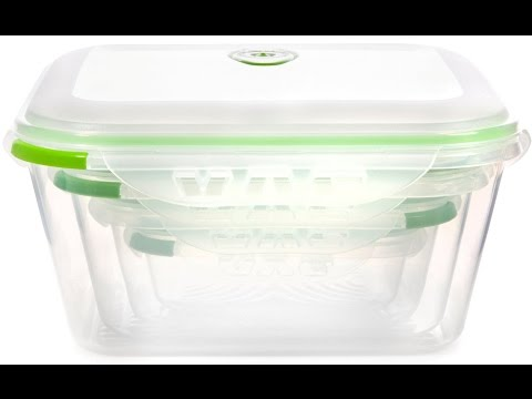 Ozeri INSTAVAC Green Earth Food Storage Container Set - The Amanda Cooke Review