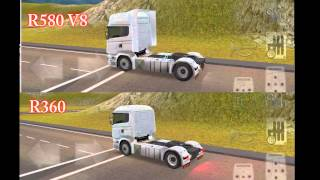 getlinkyoutube.com-Grand Truck Simulator - Scania R360 vs R580 Acceleration