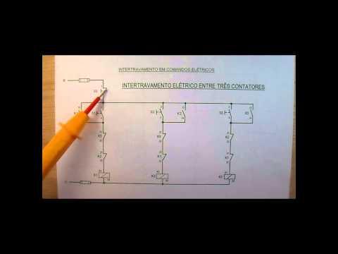 193. COMANDOS ELÉTRICOS - EXPLICANDO O INTERTRAVAMENTO ELÉTRICO ENTRE TRÊS CONTATORES - 1ª Parte