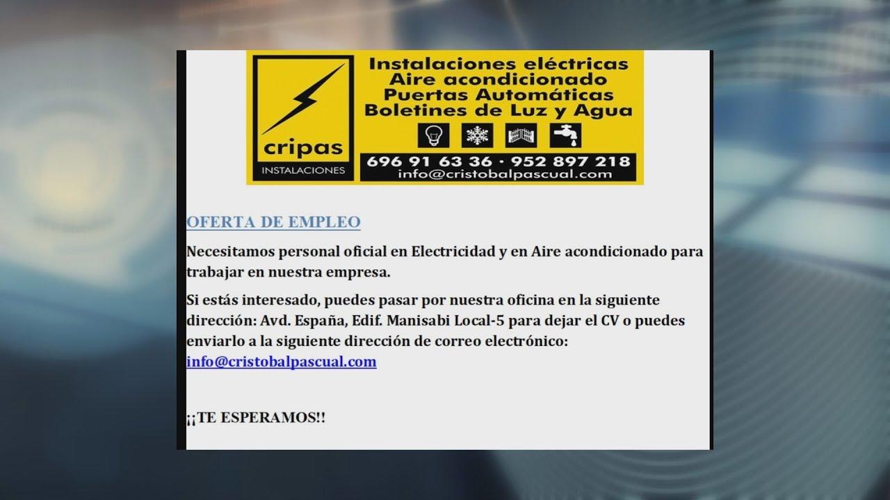 Oferta de empleo para oficial de electricidad y aire acondicionado