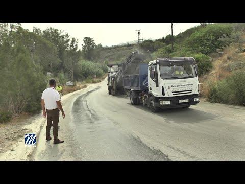 Fresado del asfalto en varias zonas