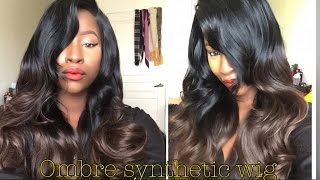getlinkyoutube.com-Slaying on a budget- Ombre synthetic wig