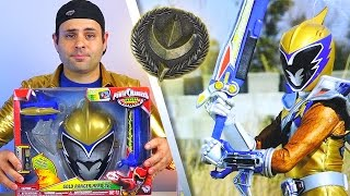 getlinkyoutube.com-Power Rangers Dino Charge Gold Ranger Hero Set Review!