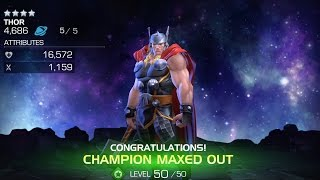 getlinkyoutube.com-Maxing Out 4-Star Thor | Marvel Contest of Champions